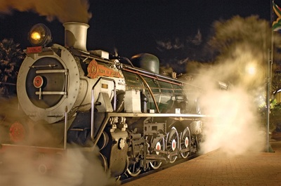 Rovos Rail stream train at their private Pretoria Station